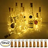 Amazon Price History for:Wine Bottle Lights with Cork, LoveNite 10 Pack Battery Operated LED Cork Shape Silver Copper Wire Colorful Fairy Mini String Lights for DIY, Party, Decor, Christmas, Halloween,Wedding (Warm White)