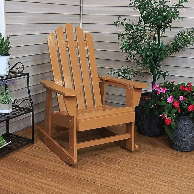 Amazon.com: Sunnydaze Classic Adirondack Mecedora de madera ...