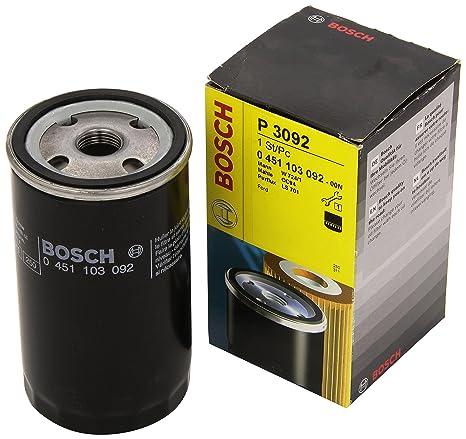 Amazon.com: Bosch 0451103092 - Filtro de aceite de repuesto ...