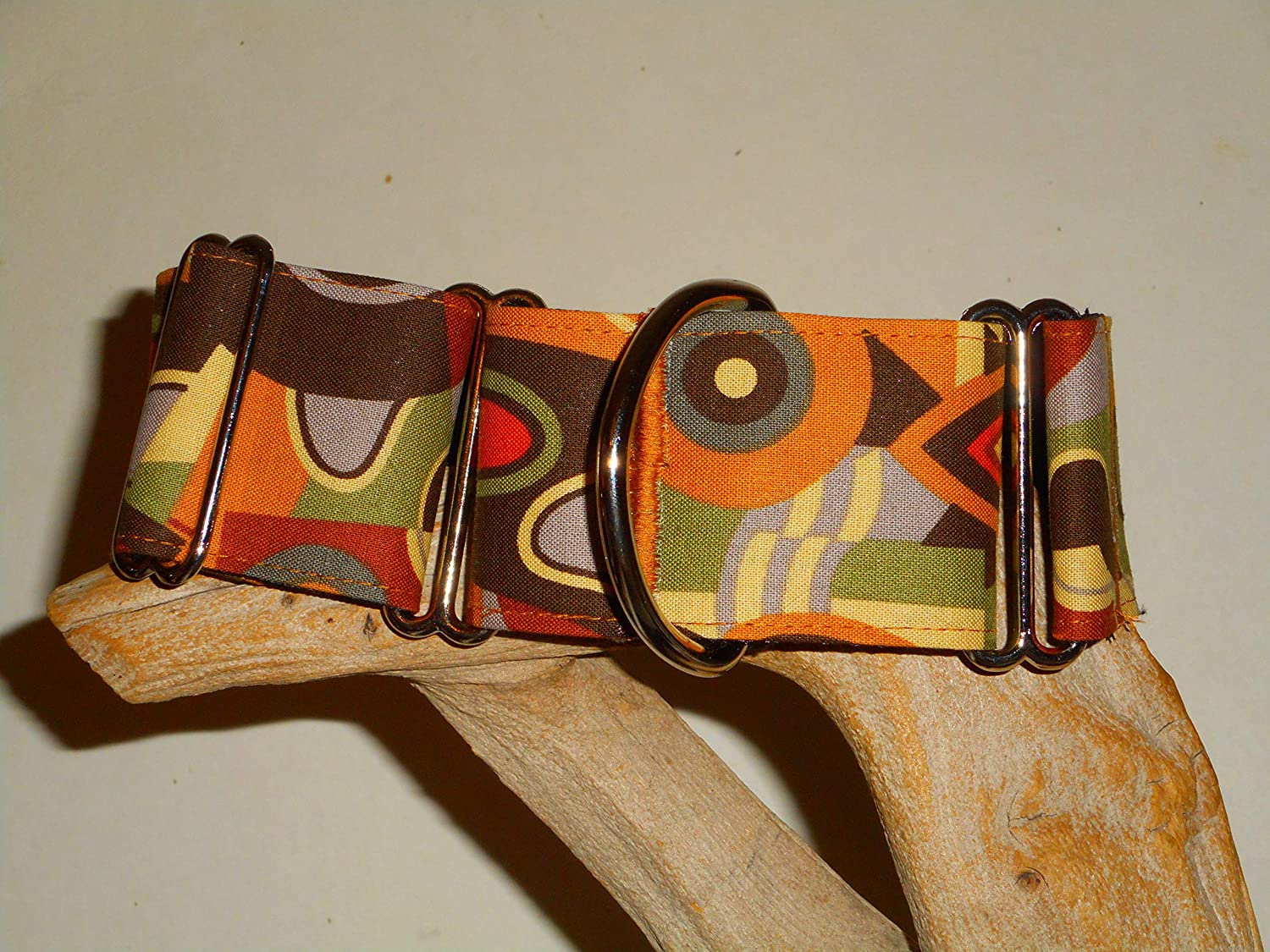 2 Inches Wide Custom Made Martingale Dog Collar Gatsby Jazz