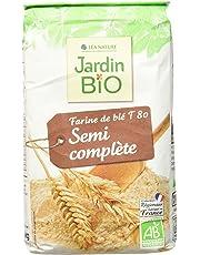 Jardin Bio Farine de Blé Semi Complète T 80 1 kg - Lot de 5
