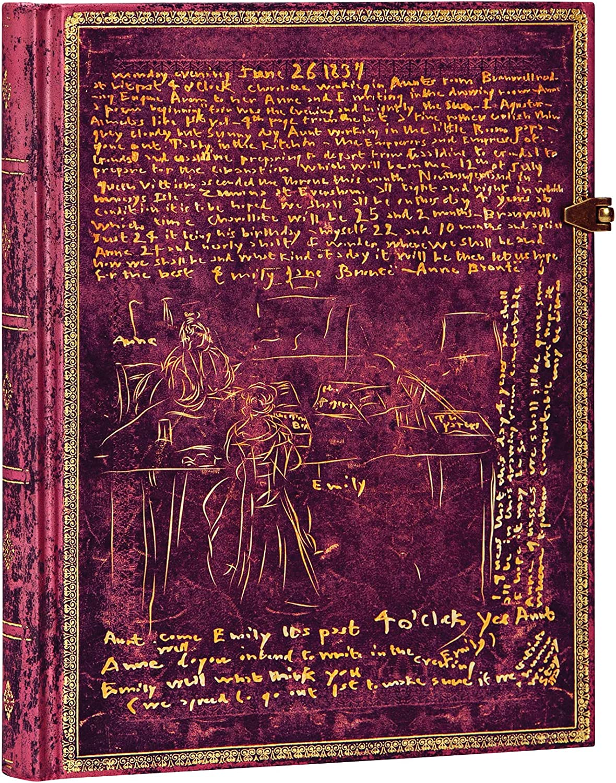 Paperblanks Diari a Copertina Rigida Le Sorelle Bront/ë 180 /× 230 mm Bianco Ultra