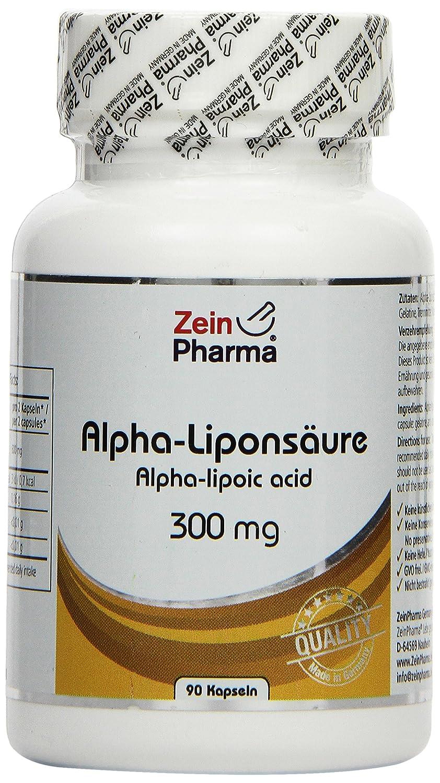 Zein Pharma Liponsäure alfa Cápsulas 300 mg, 1er Pack (1 x 45 g): Amazon.es: Salud y cuidado personal