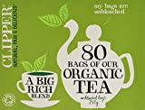 Clipper Organic Everyday 80 Teabags (Pack of 6, Total 480 Teabags)
