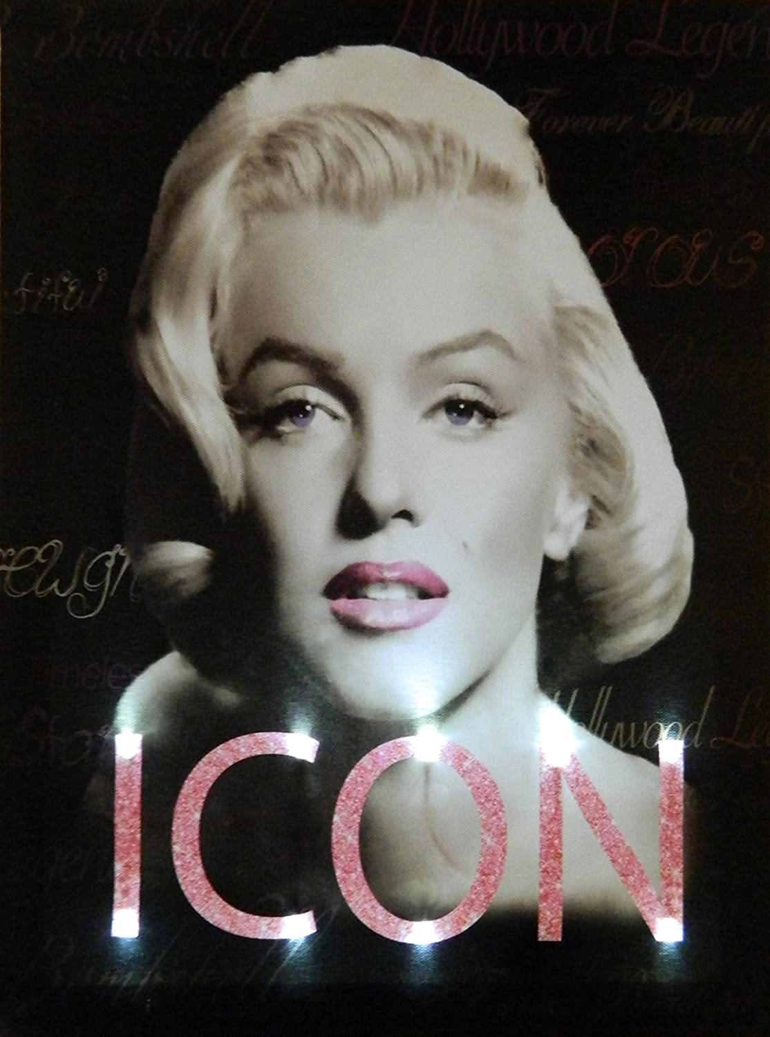 Midsouth Products Marilyn Canvas with LED Lights - Icon