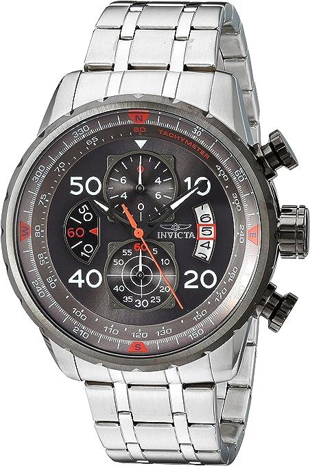 Amazon.com: Invicta 17204Aviator acero inoxidable reloj Casual: Invicta: Watches
