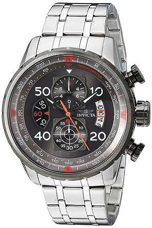 Amazon.com  Invicta Men s 17204 AVIATOR Stainless Steel Casual Watch ... 3c8673d7d