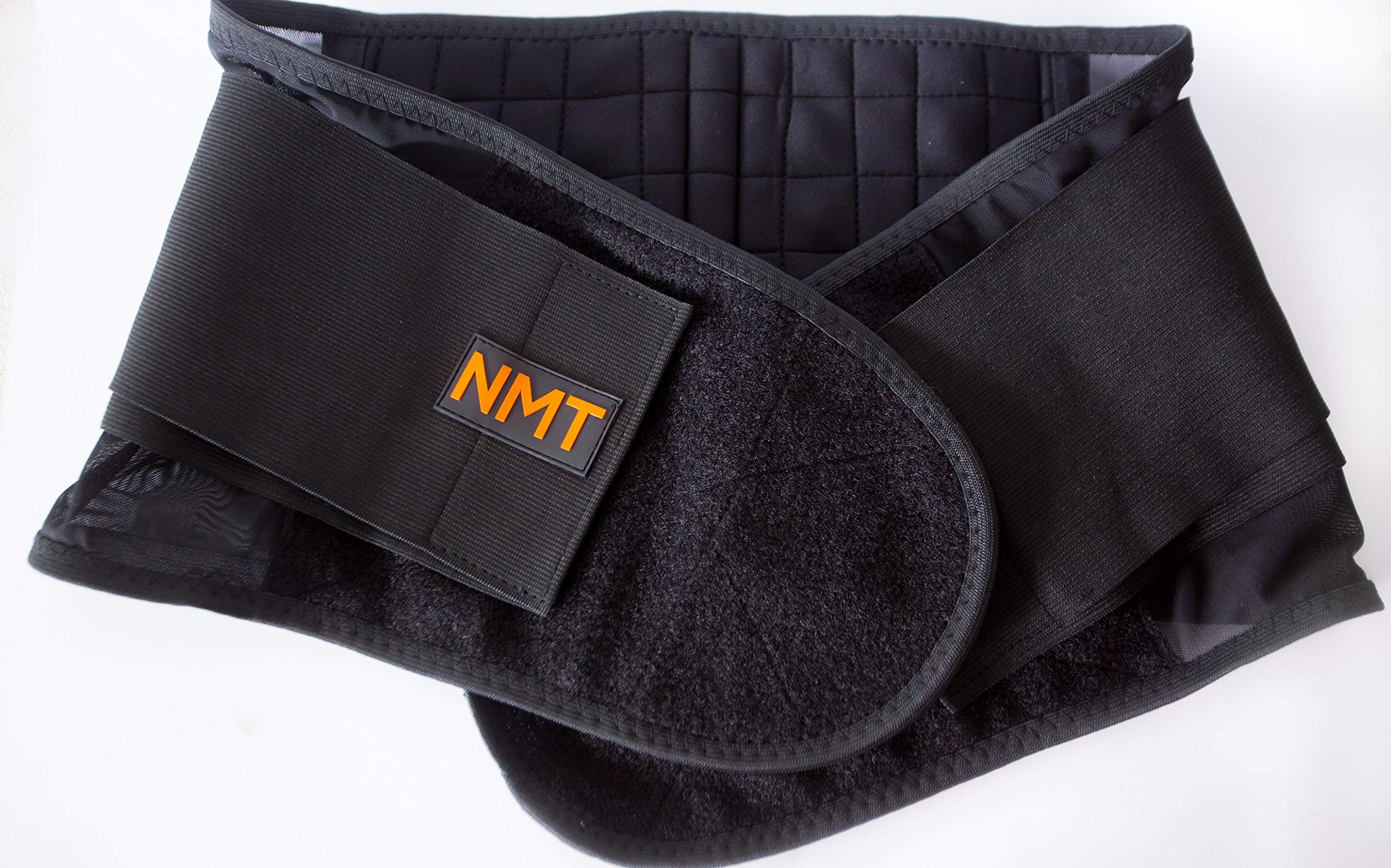 Back Brace by NMT ~ Lumbar Support Black Belt ~ Posture Corrector ~ Arthritis, Pain Relief, Sciatica, Scoliosis ~ Physical Therapy for Women-Men ~ 4 Adjustable Sizes-'XL' Fits Waist 40-45'' (102-115cm) by NeoMedinaTech
