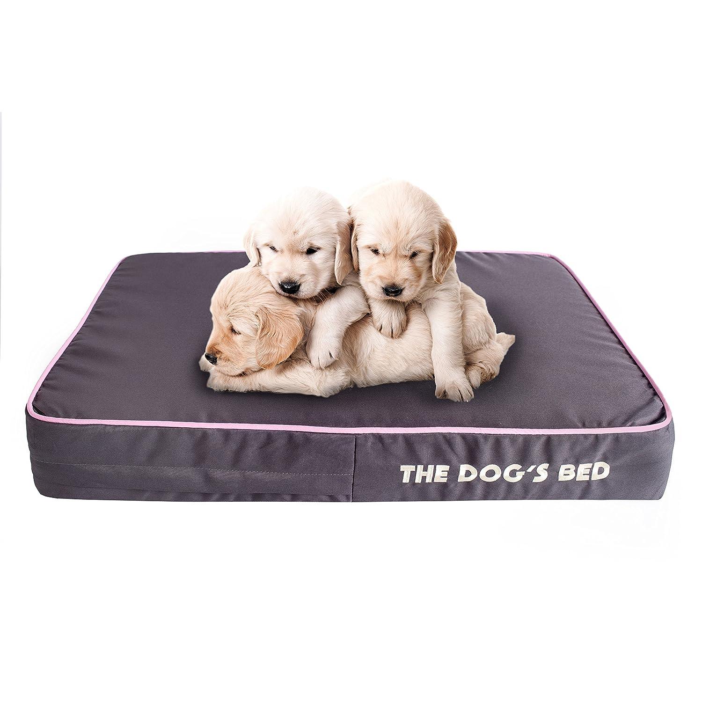 The Dogs Bed - Cama de perro ortopédica, impermeable, viscoelástica, 5 tamaños/7 colores. Alivia la artritis de las mascotas, la displasia de la cadera y ...