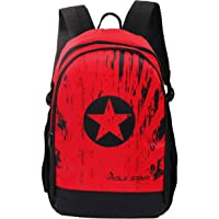 POLE STAR 30 L Red Black Casual Backpack with Laptop compartment