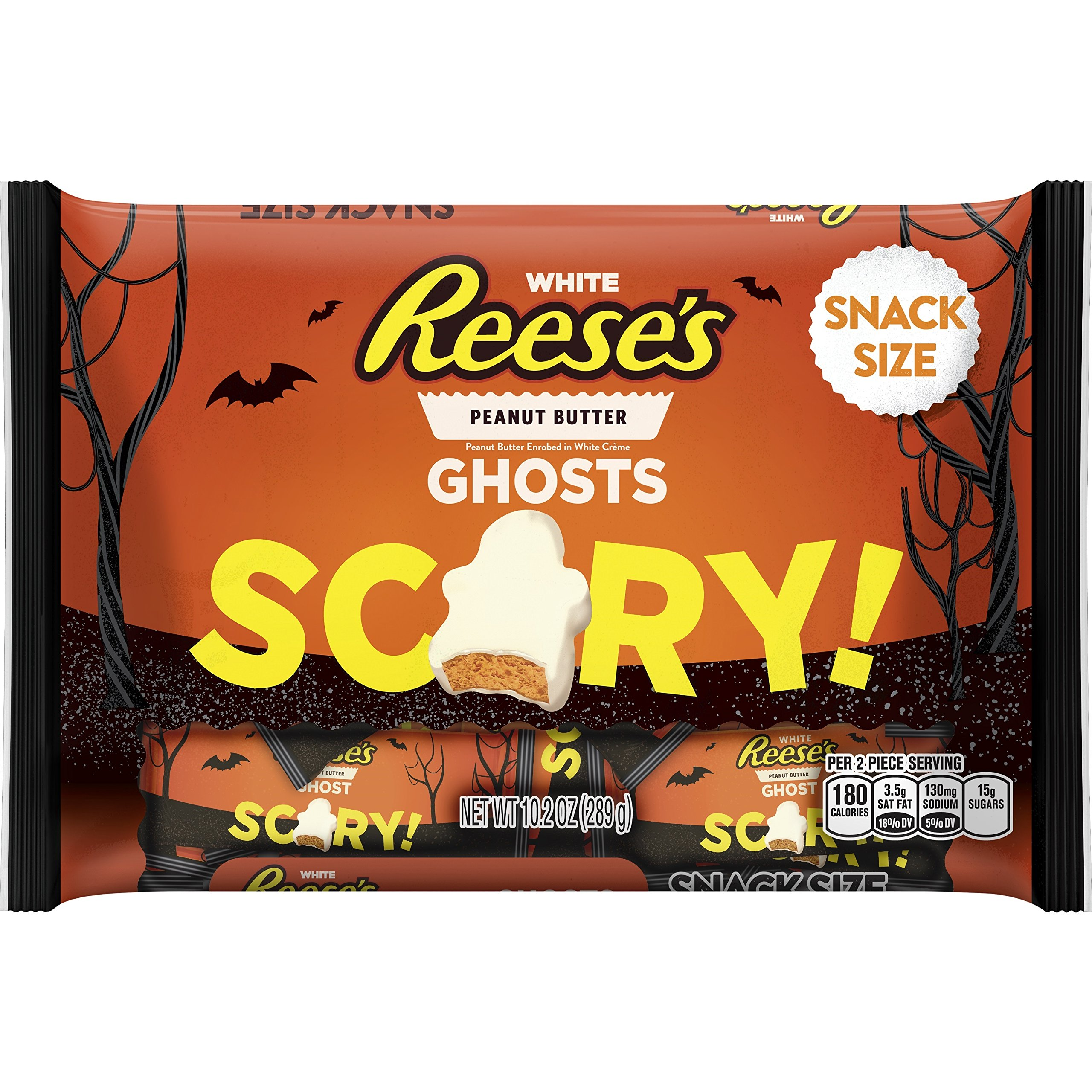 REESE'S White Peanut Butter Snack Size Ghosts 10.2 Ounce