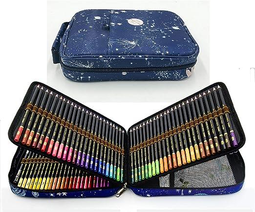 120 lápices de colores con Caja de Cremallera Portátil para proteger y almacenar los lápices,Set de Lápices Colores Profesional para colorear, dibujar y sombrear Ideal para Artistas, Adultos y Niños: Amazon.es: Hogar