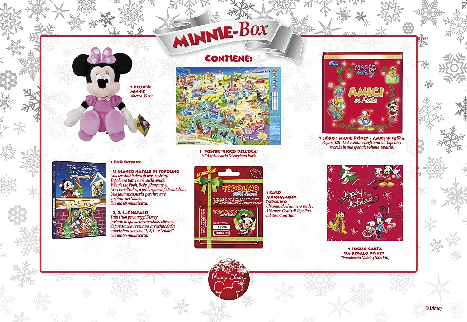 Amazon.com: merry disney box minni (2 dvd+libro+peluche) box set dvd Italian Import: Movies & TV