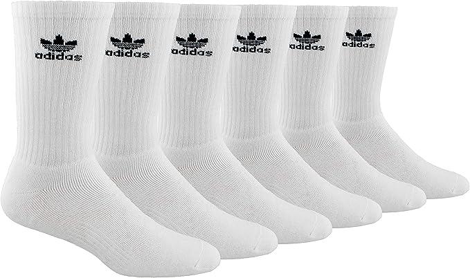 Sufijo Suavemente Hormiga  adidas Originals Men's Trefoil Crew Socks (6-Pair), White/Black, Large,  (Shoe Size 6-12): Amazon.co.uk: Clothing