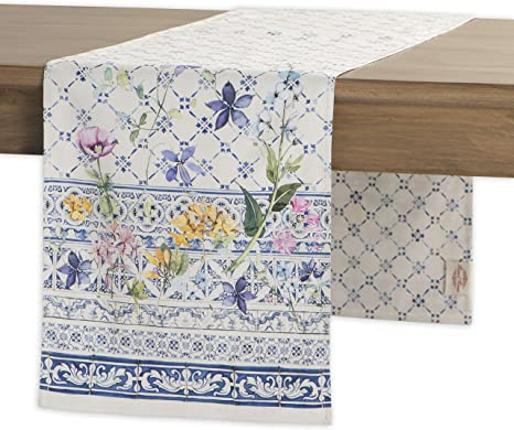 Maison d' Hermine Faïence 100% Cotton Table Runner 14.5- Inch by 72 - Inch best spring home decor