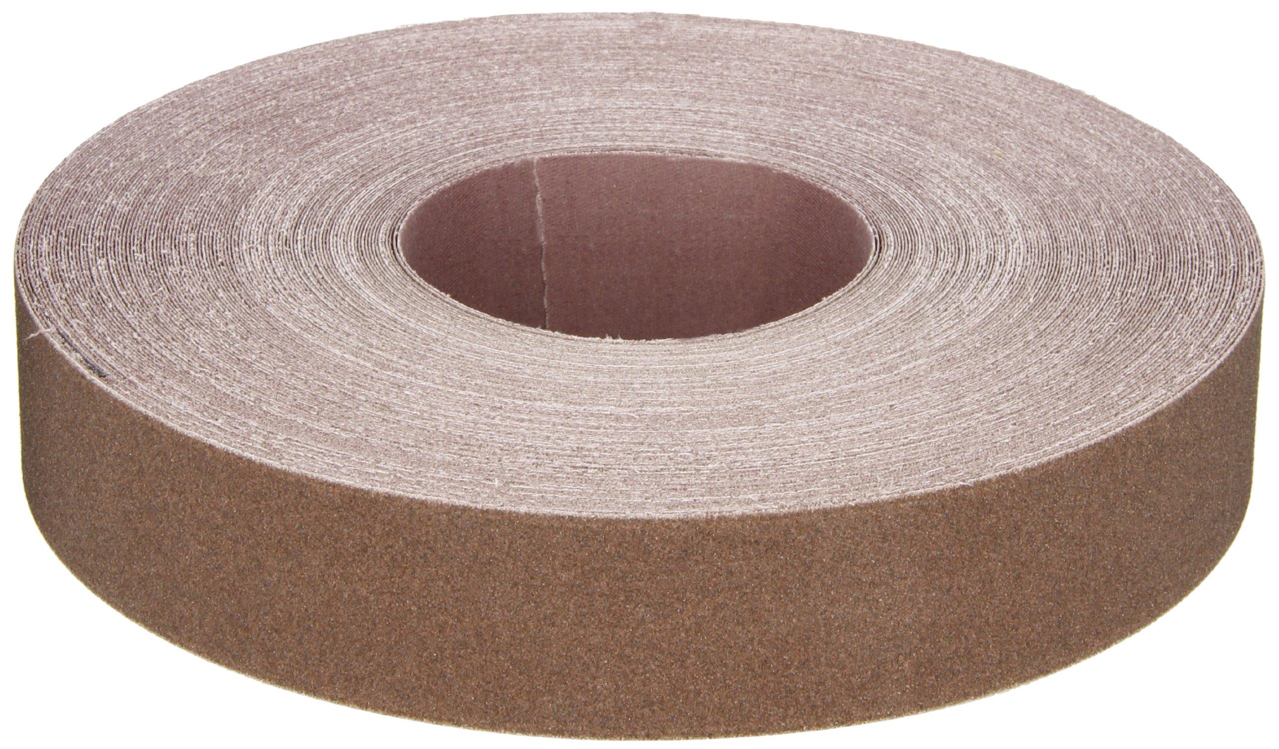 Norton K225 Metalite Abrasive Roll, Cloth Backing, Aluminum Oxide, 1-1/2'' Width x 50yd Length, Grit P120