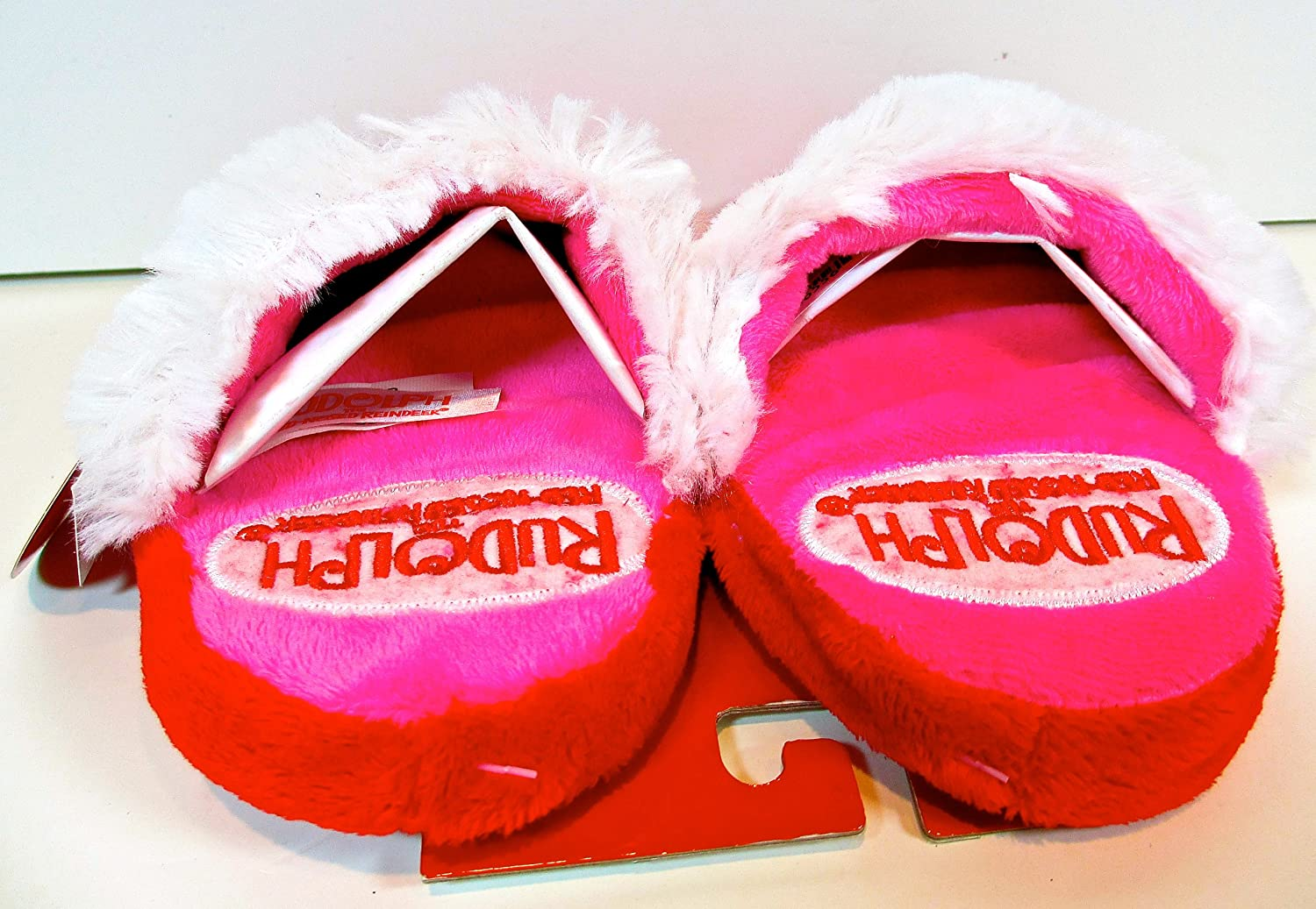 Rudolph the Red Nosed Reindeer Christmas Girls Scuff Slippers The Rudolph Com Medium 7//8