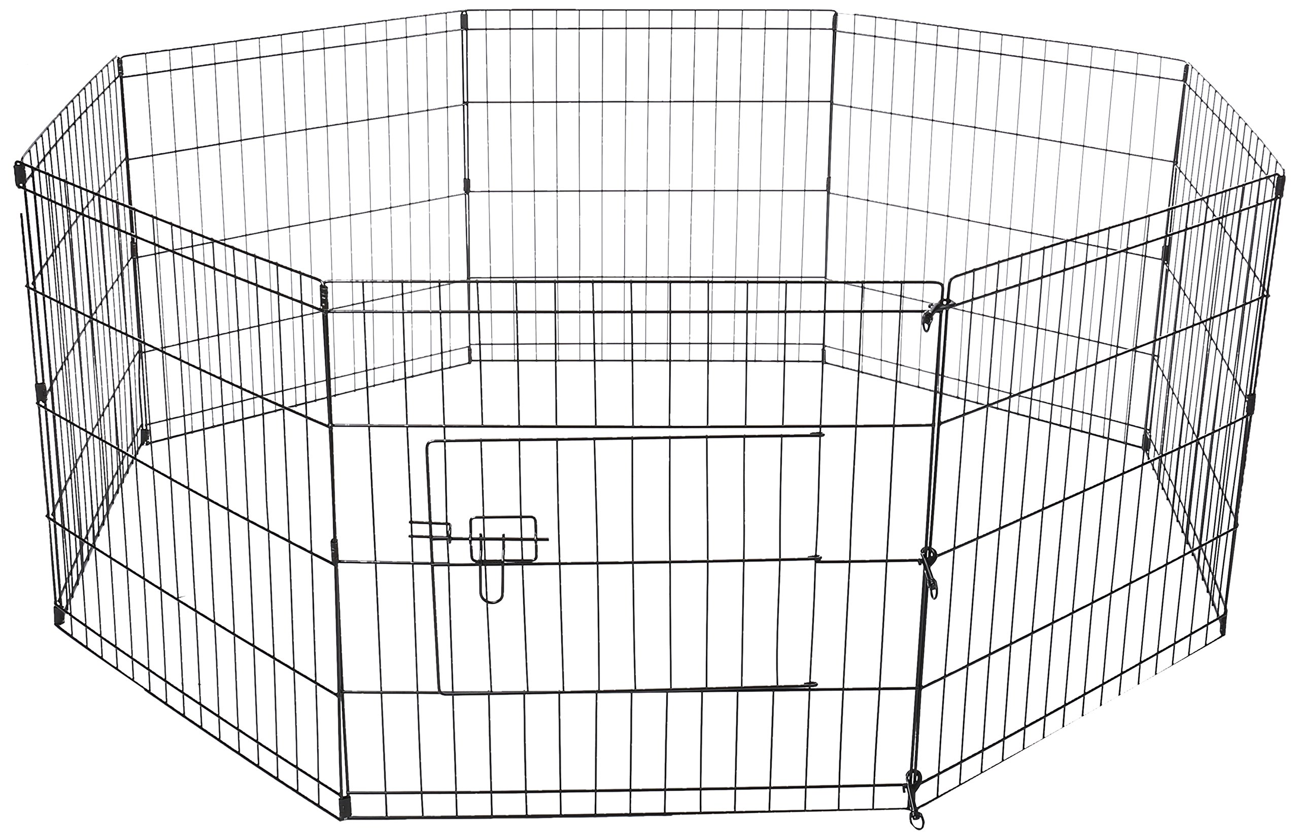 Oxgord Dog Animal Playpen Large Metal Wire Folding Exercise Yard Fence 8 Pane