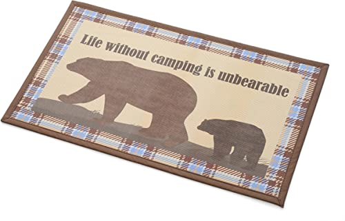 Rubber-Cal Welcome Please Remove Your Shoes Decorative Welcome Mats, 18 x 30-Inch