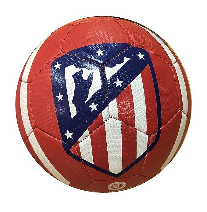 Balon Oficial Atletico de Madrid - Size 5 - Clasico Rojo: Amazon ...