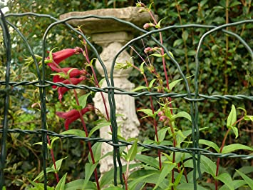 Decorative Garden Fencing 04m x 10m Arch Top Green Steel Fence