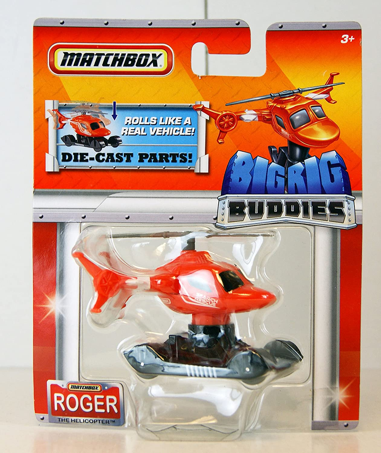 Roger The Helicopter Big Rig Buddies Die-Cast Parts Matchbox