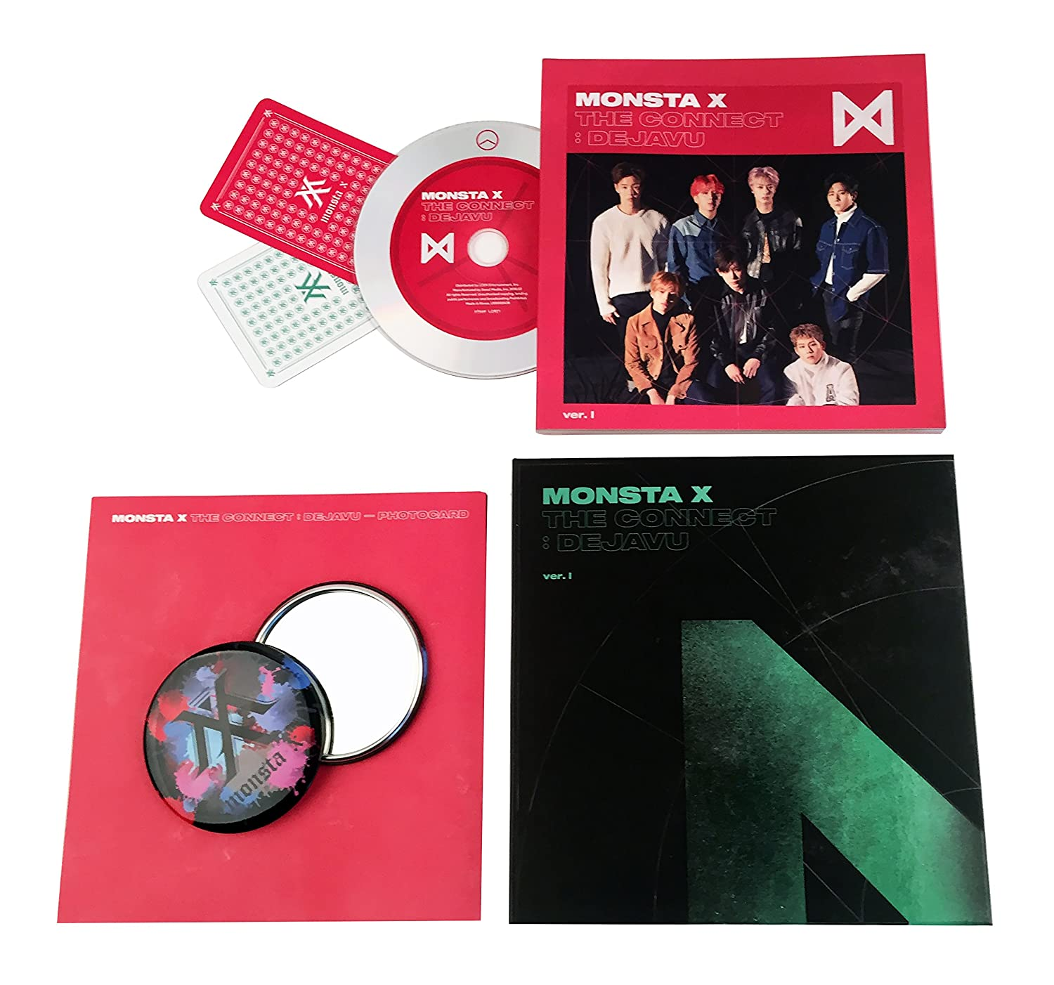 The connect: dejavu [ ver. Iv ] monsta x album cd + booklet + 2.