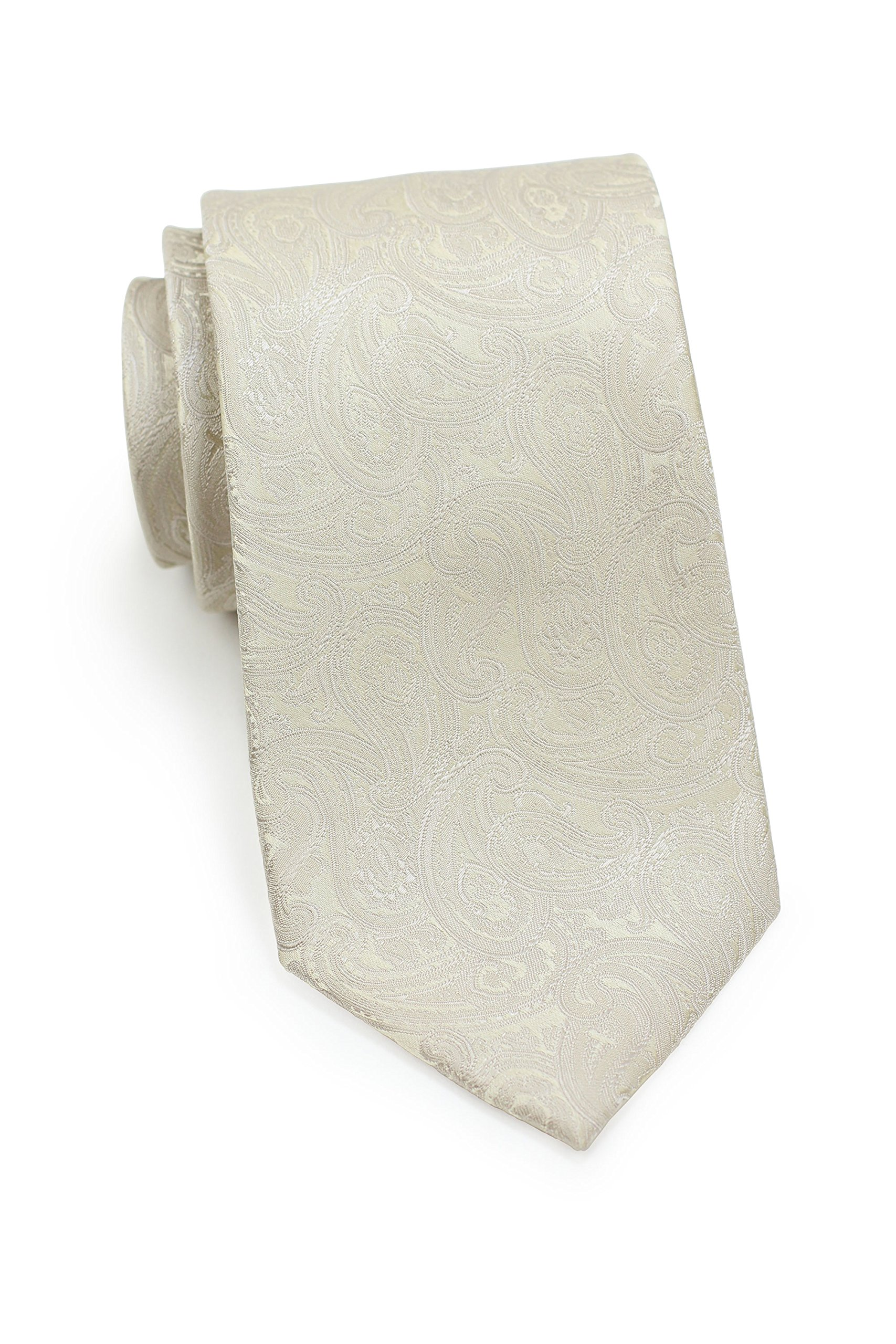 CDM product Bows-N-Ties Men's Necktie Classic Wedding Silk Satin Tie 3.25 Inches big image
