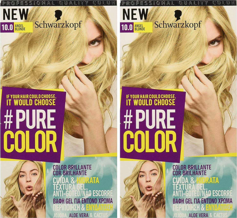 Pure Color de Schwarzkopf Tono 10.0 Angel Blond - 2 uds - Coloración Permamente