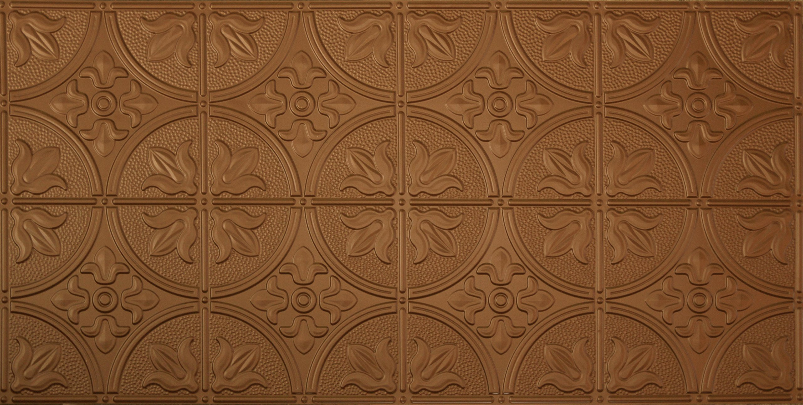 Global Specialty Products Pattern No.309 Tin Style Panel, 2 by 4-Feet, Aged Copper