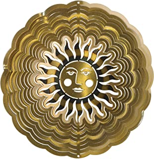 product image for Next Innovations 101102015 Medium Sunface Antique Gold Wind Spinner