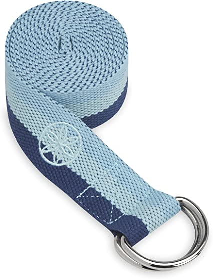 Amazon Com Gaiam Yoga Strap 6ft Stretch Band With Adjustable Metal D Ring Buckle Loop Exercise Fitness Stretching For Yoga Pilates Physical Therapy Dance Gym Workouts Skyline Sports Outdoors