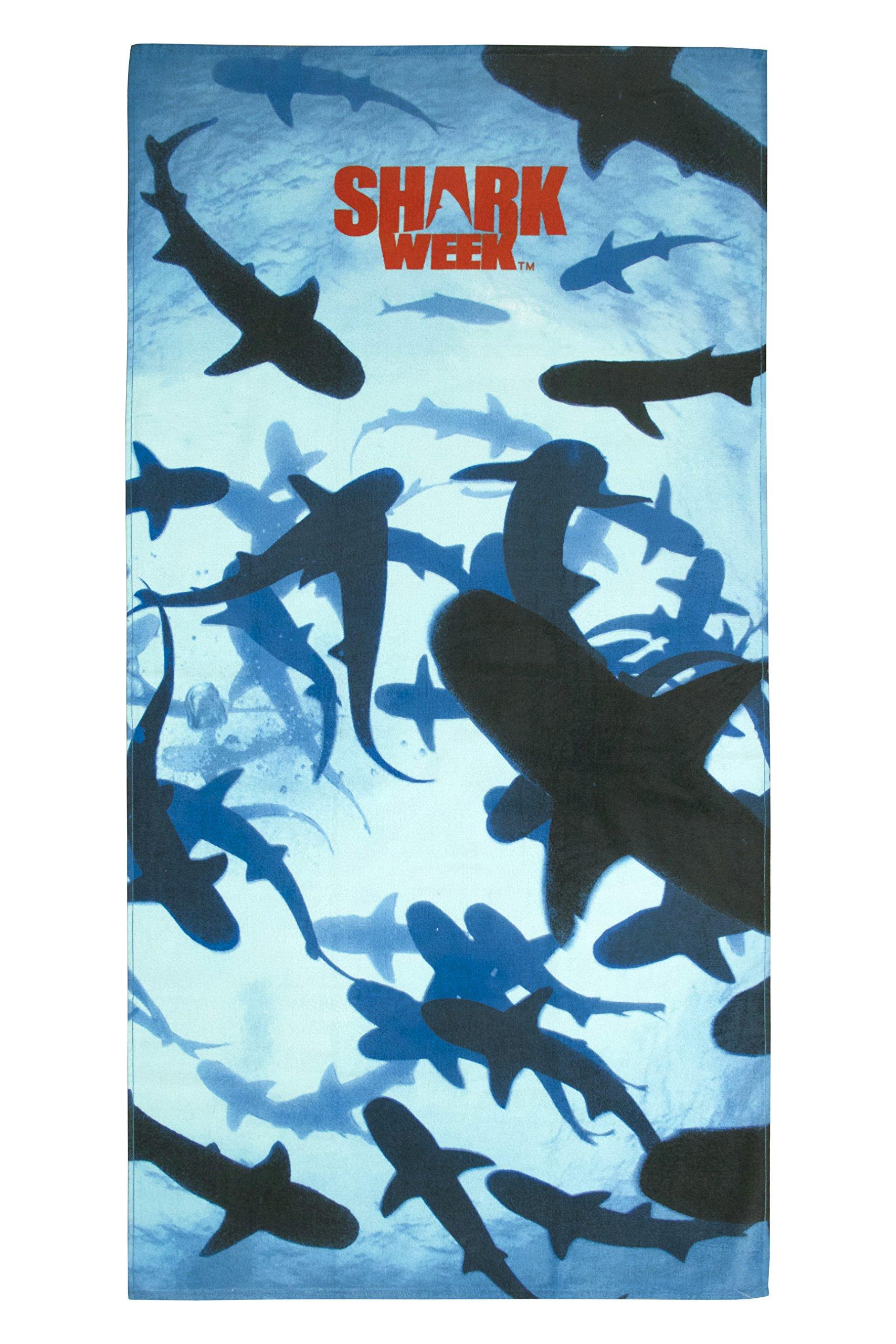 Discovery Channel Shark Week Many Sharks 100% Cotton Beach/Bath/Pool Towel, 30'' x 60''