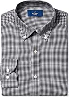 Buttoned Down Men's Slim Fit Button-Collar Pattern Non-Iron Dress Shirt Without Pocket