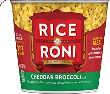 12-Pack Quaker Cheddar Broccoli 2.11 Ounce Rice a Roni Cups