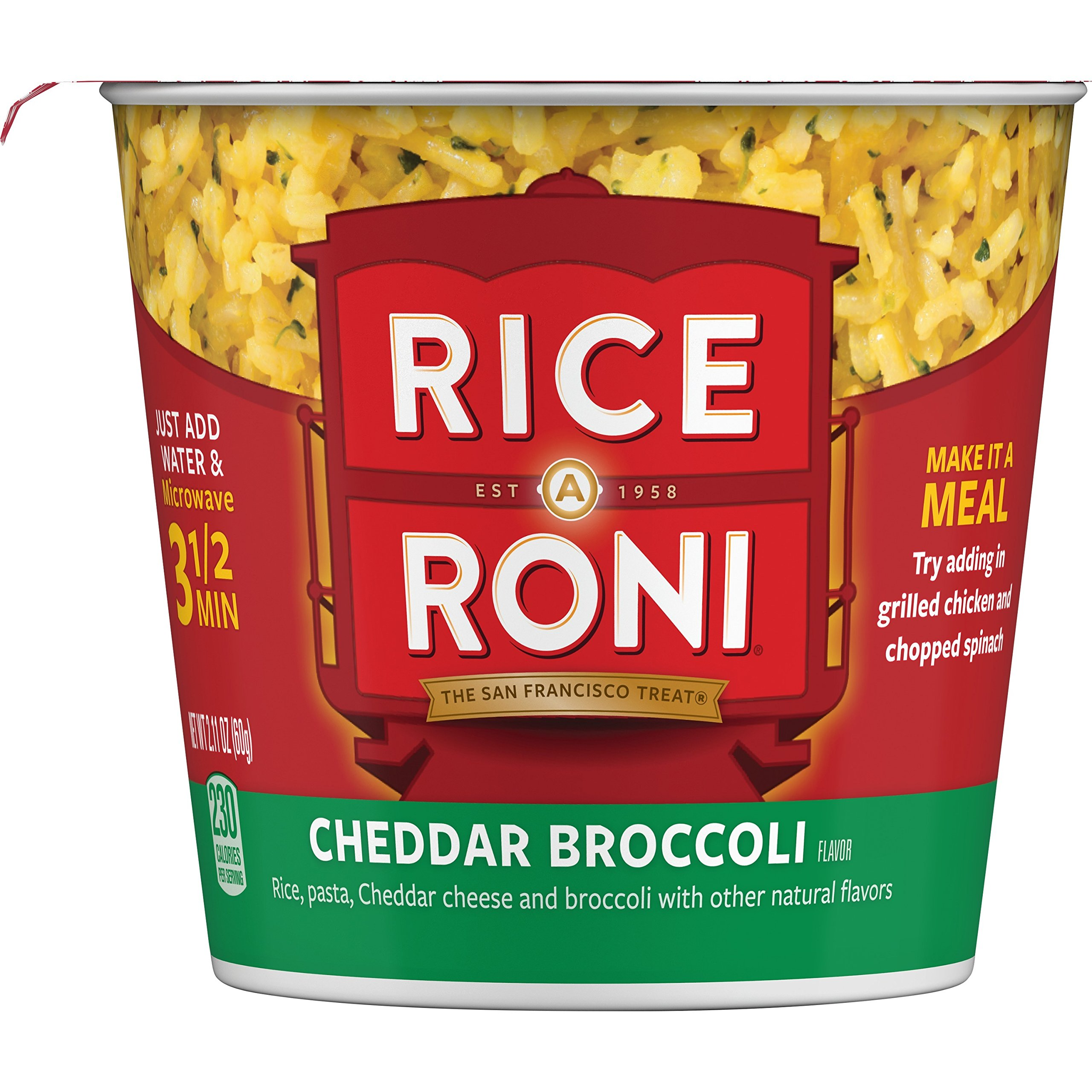 Rice a Roni Cups, Cheddar Broccoli, Individual Cup 2.11 Ounce (Pack of 12