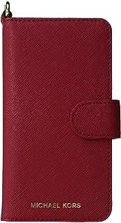 half off ecb95 03888 Amazon.com: Michael Kors Saffiano Leather Folio for AiPhone 8 Plus/7 ...