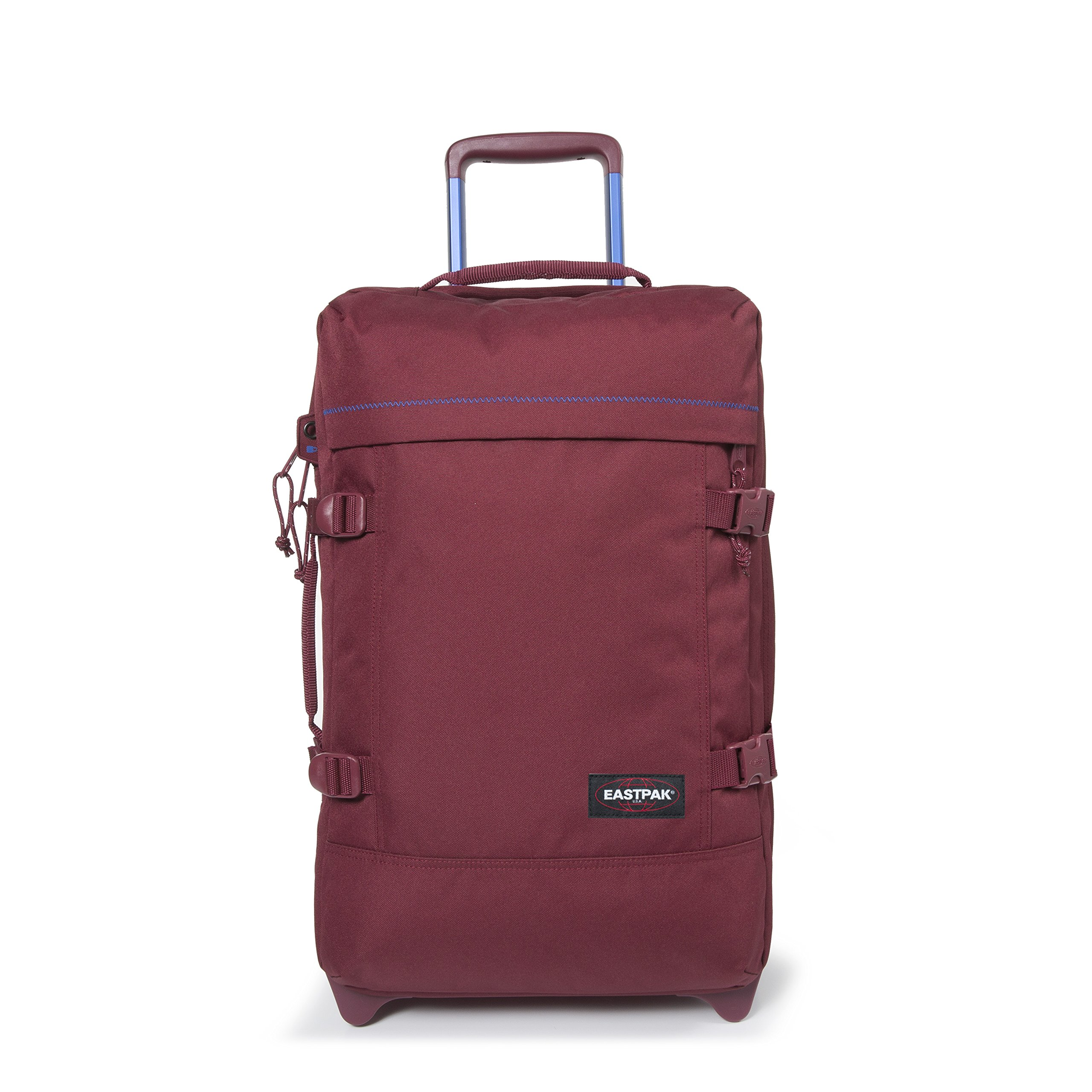Eastpak Tranverz S Collection Stitch-Out Wheeled Luggage Merlot Stitched