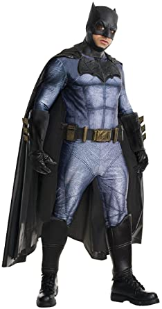 39783488 Rubie's Costume Men's Batman v Superman: Dawn of Justice Grand Heritage  Batman Costume, Multi