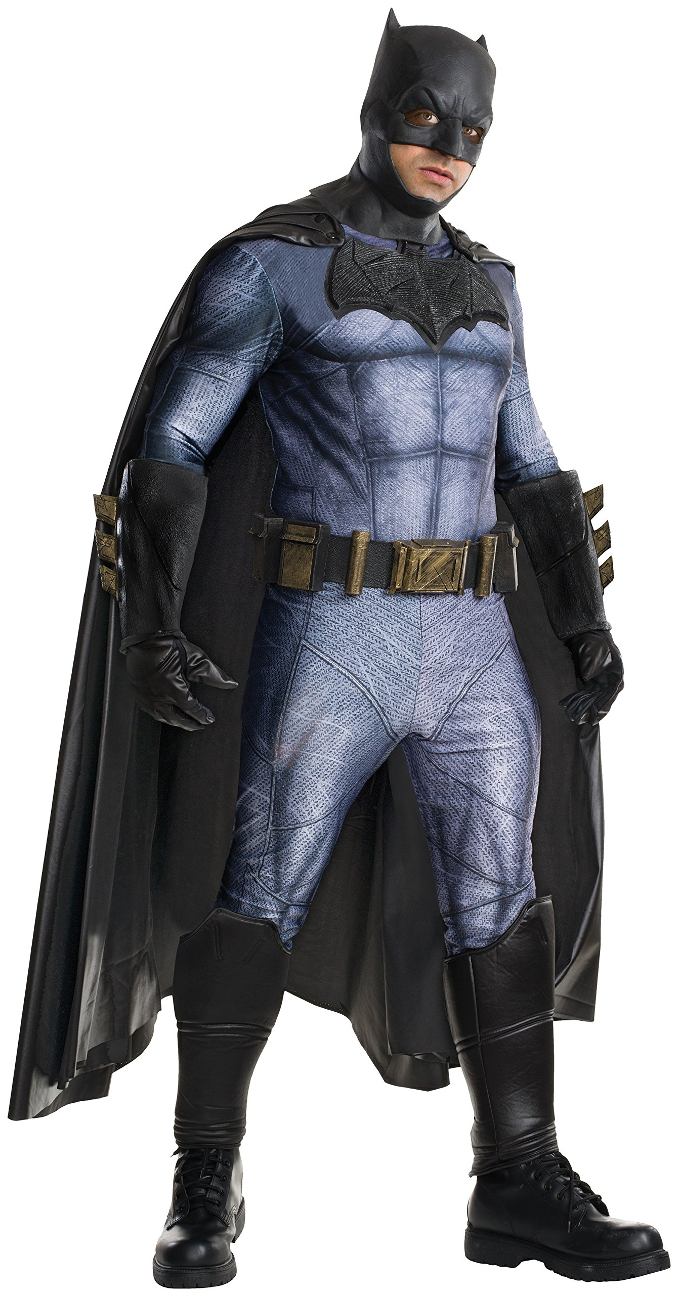 Rubie's Men's Batman v Superman: Dawn of Justice Grand Heritage Batman Costume, Multi, One Size by Rubie's