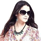(レンサン) LianSanゴールデンフラワー付き UVカット オーバル ファッション レディース サングラス 偏光レンズ GD103P