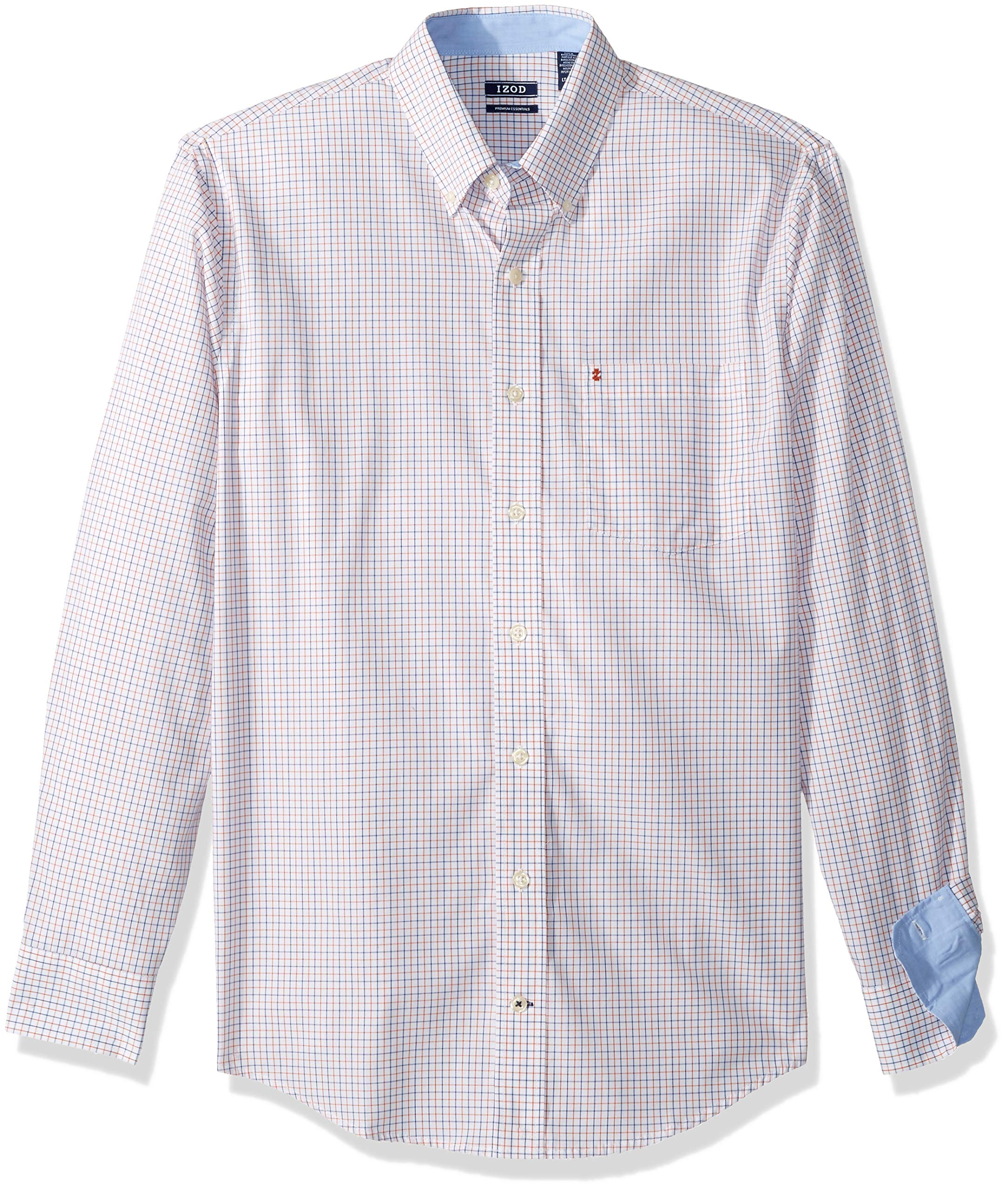 Mens Big and Tall Long Sleeve Cotton Stretch Button Down Shirt