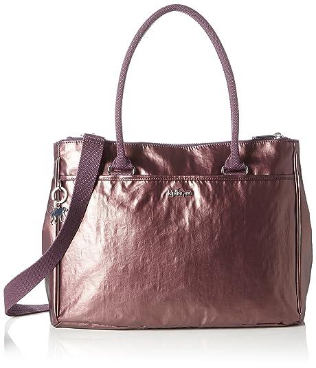 Kipling New Halia, Bolsa de Asa Superior para Mujer, Morado (REF34J Metallic Plum) 37x29x14 cm: Amazon.es: Zapatos y complementos