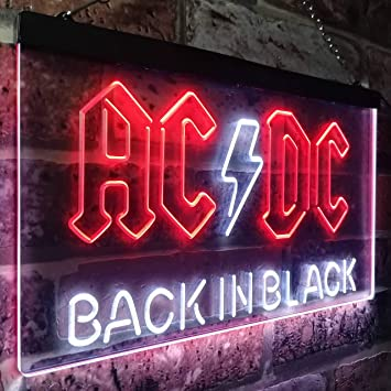 Amazon.com: ACDC - Cartel de neón con luz LED, diseño de ...