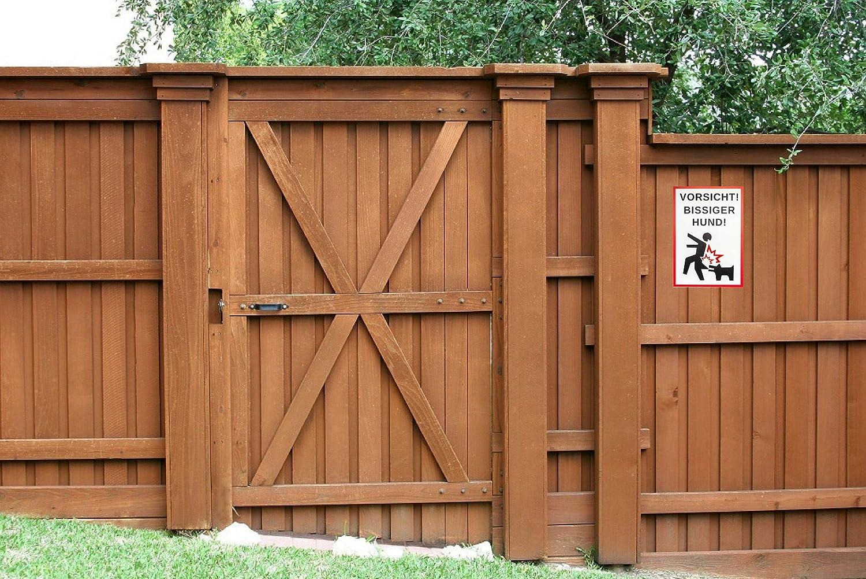 Vorsicht A4| Bissiger Hund! Warnschild 21 x 30 cm