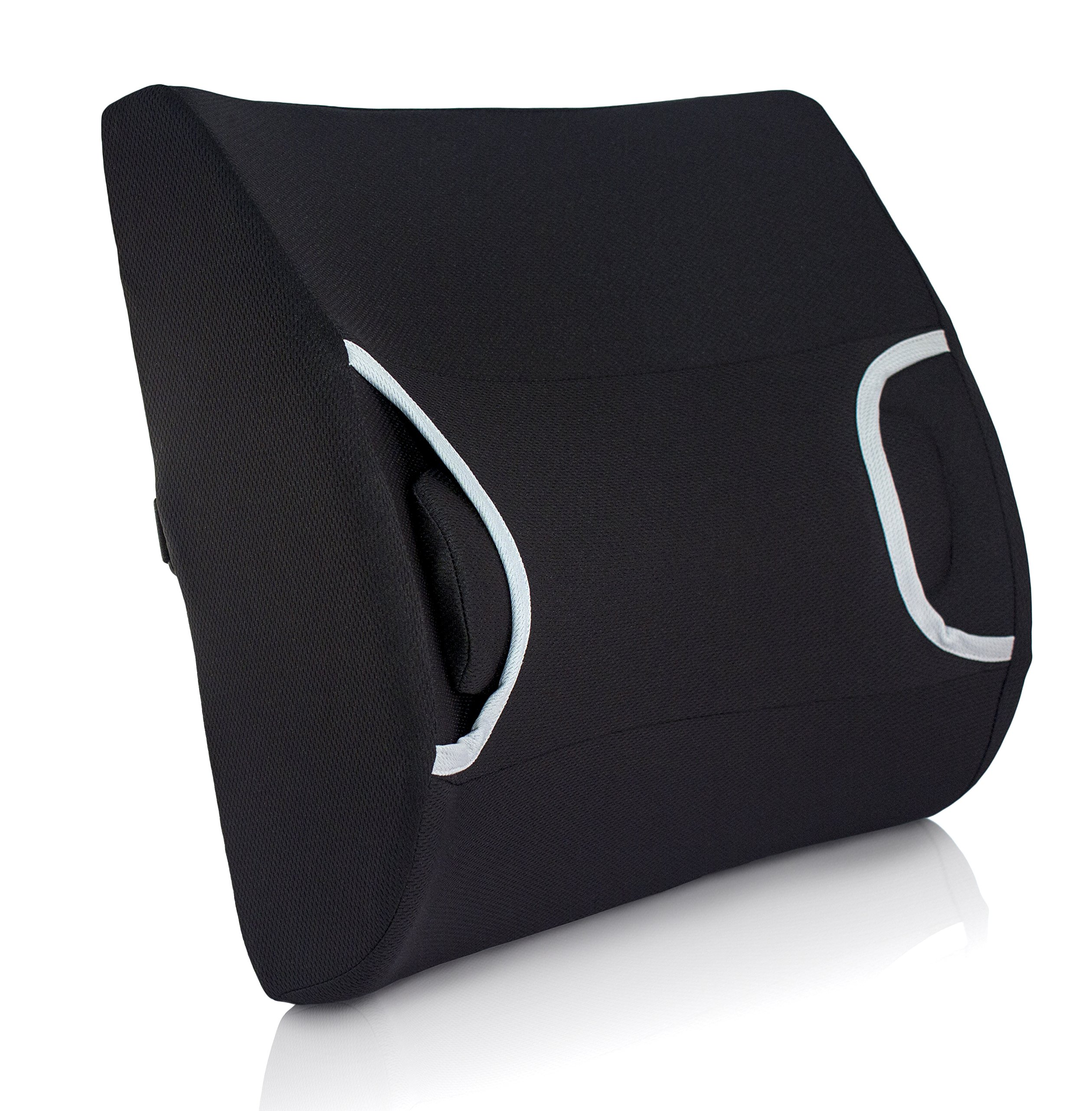 Vaunn Medical Lumbar Back Support Cushion Pillow with Warm/Cool Gel Pad and Removable Firm Insert by Vaunn (Image #2)