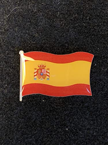 Pin Bandera de España con Escudo - Maxima Calidad. Especial Ropa: Amazon.es: Handmade