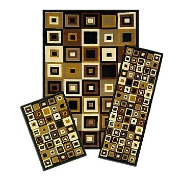 Achim Home Furnishings Capri 3 Piece Rug Set, Southwest Tiles
