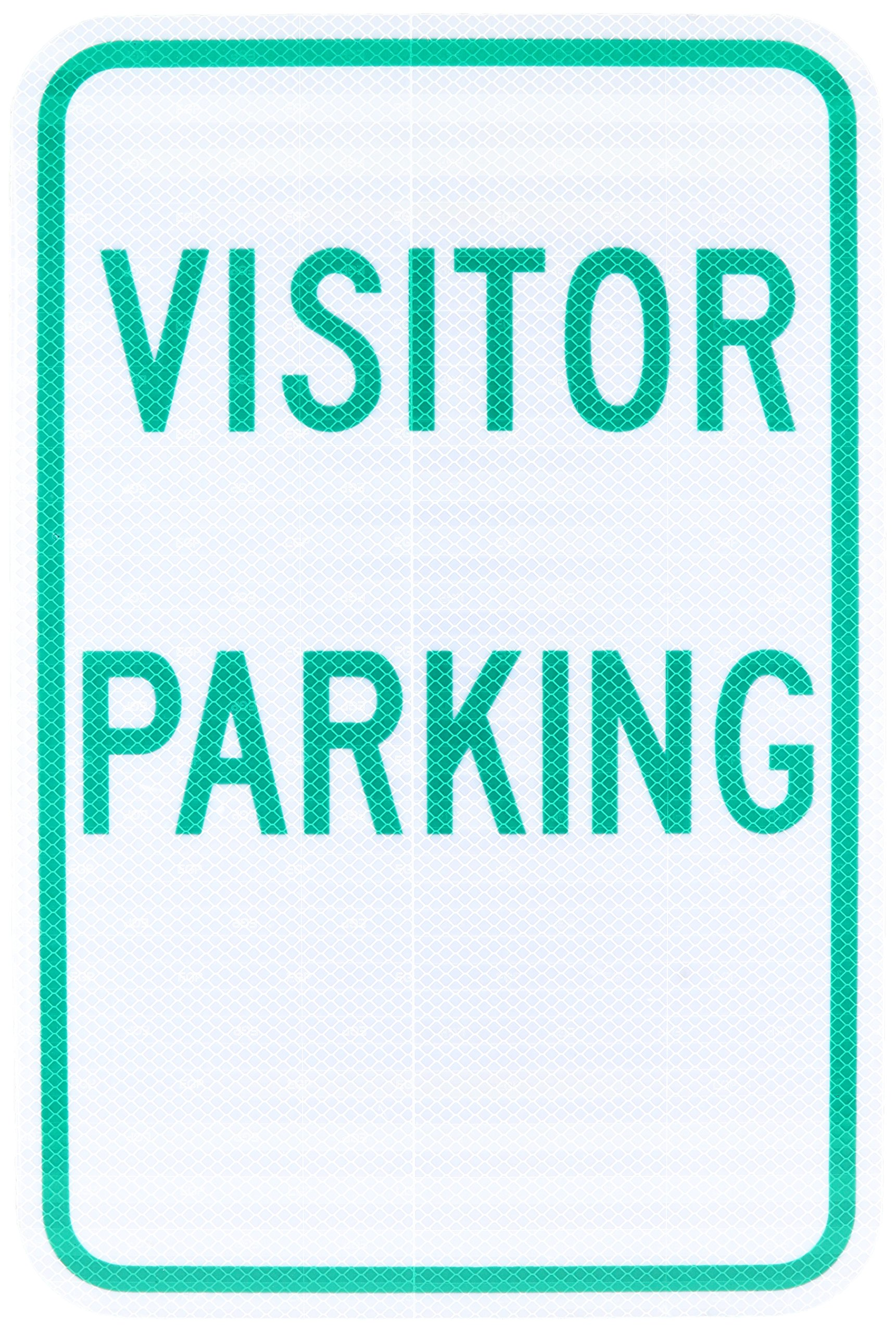 Tapco RP-5 Engineer Grade Prismatic Rectangular Parking Sign, Legend ''VISITOR PARKING'', 12'' Width x 18'' Height, Aluminum, Green on White