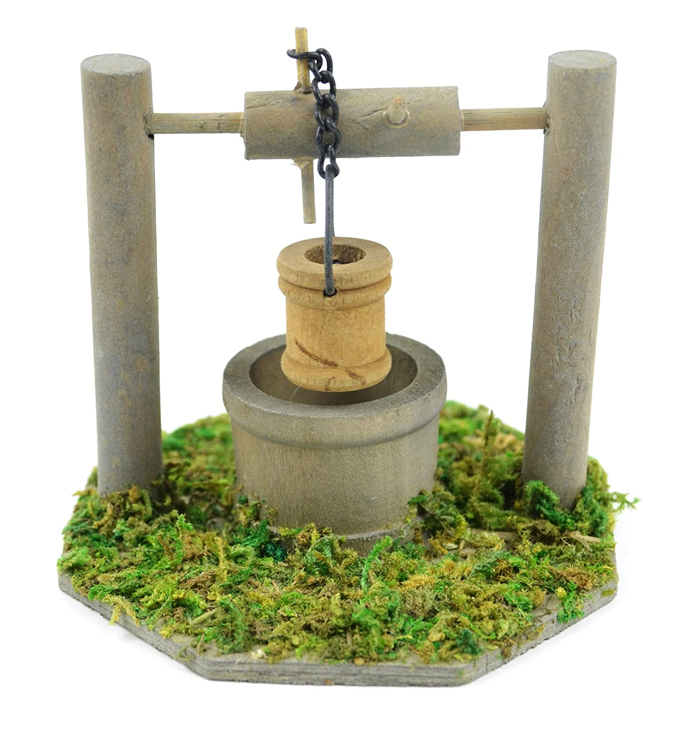 Amazon.com : Touch of Nature Mini Fairy Garden Wishing Well, 3.5 by ...